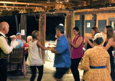 People Dancing at Chicken Chow Down 2017 Luray VA