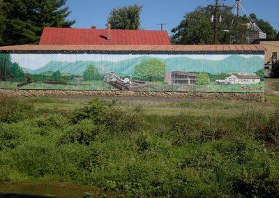 Wood Mill Mural on Hawksbill Greenway Barn Luray VA