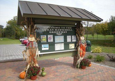 Announcement Kiosk on Greenway Luray VA