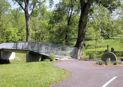 Bridge over Creek on Hawksbill Greenway Luray VA