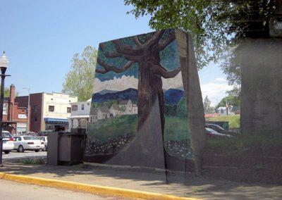 Historic Oak Tree Mural Main St. Luray VA