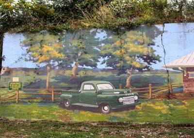 Train Mural on Main Street Luray VA