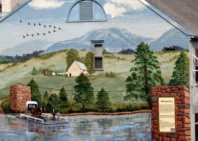 White House Ferry Mural on Main Street Luray VA
