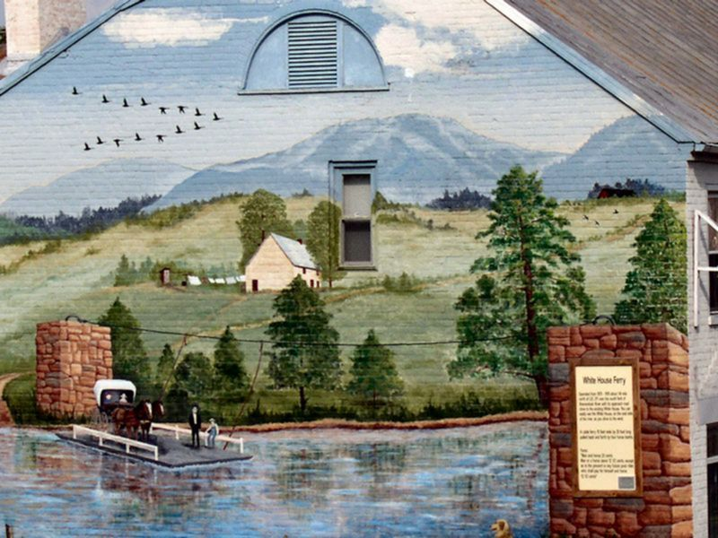 White House Ferry Mural on Main Street Luray VA
