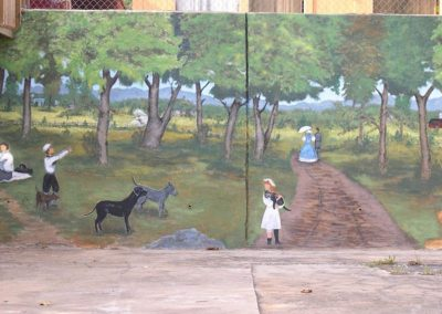 Early Life in Luray Mural on Ruffner Plaza