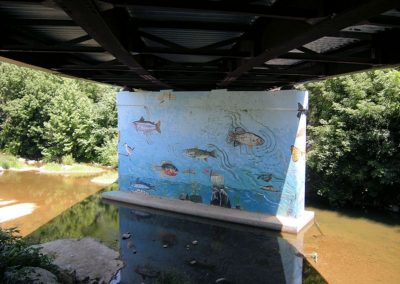 Fish Mural under Greenway Bridge