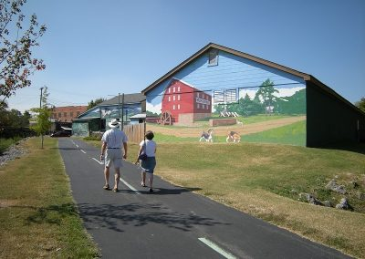 Willow Grove Mill Mural on Greenway