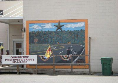 Motorcyclist Mural in Luray VA