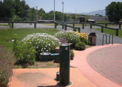 Drinking Fountain at Entrance  at Bulldog Field to Hawksbill Greenway Luray VA
