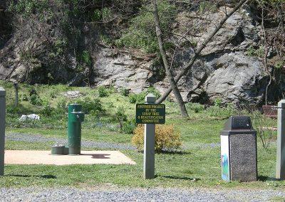 Pocket park on Hawksbill Greenway