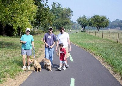 Family Walking the greenway