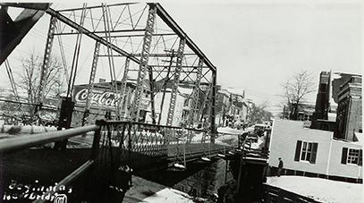 west main street bridge feebruary 1934 bridgewater college dan vaughn