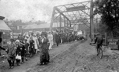 west main street bridge luray, va school rally days circa 1910 dan vaughn