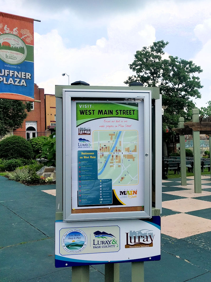 New directional Kiosk Displays in Downtown Luray VA