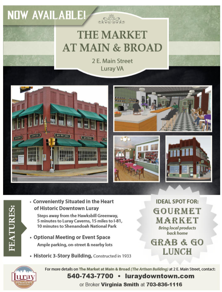 Luray Historic Building for sale-The Market at Main & Broad